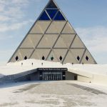 Palace of Peace and Reconciliation on a Sunny Winter Day in Astana